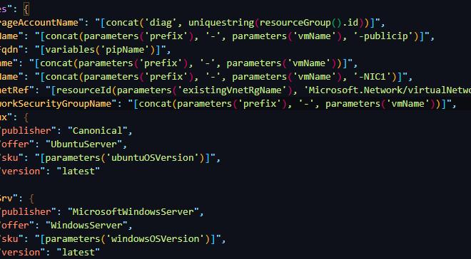 Azure conditional VM template