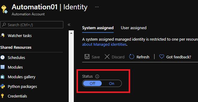 Azure Automation Managed Identity