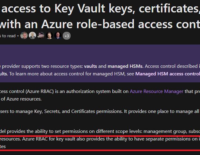 Granular RBAC on Azure Key Vault Secrets