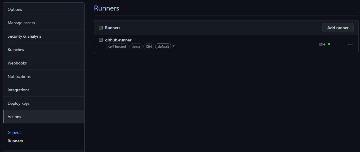 GitHub runners